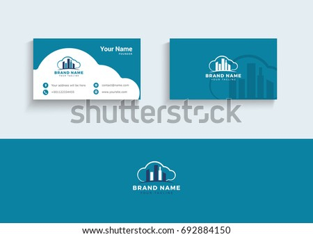 Building construction vector logo business card stock vector building and construction vector logo and business card real estate agent business card colourmoves