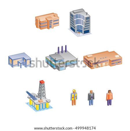 Building and people icons