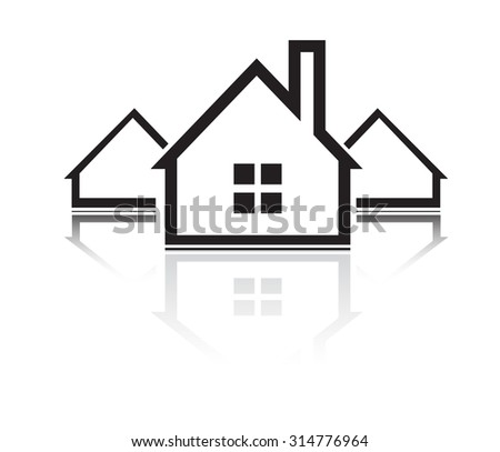 Building and real estate city illustration. Abstract house background for business presentation, sale, rent