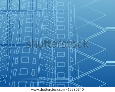 Building background. design of high-rise building - stock vector