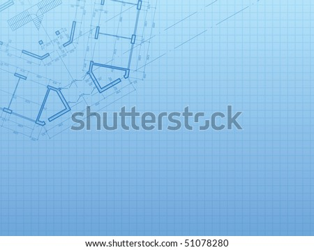 Building background. Plan of the house - stock vector