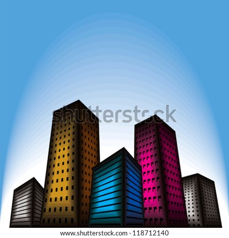 building city vector - stock vector