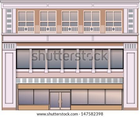 Building, facade - stock vector