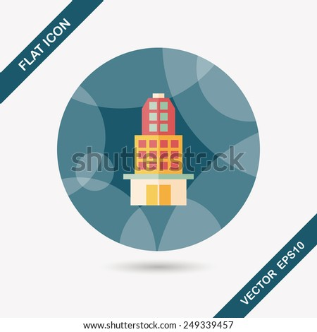 Building flat icon