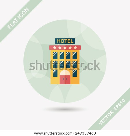 Building hotel flat icon - stock vector