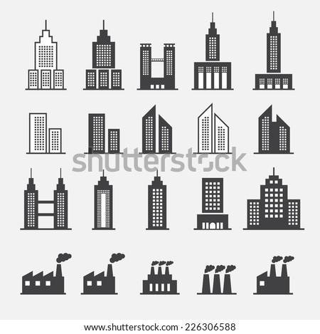 building icon - stock vector