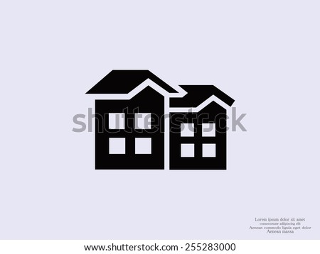 Building icon - stock vector