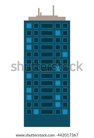 Building icon. Architecture and city. Vector graphic
