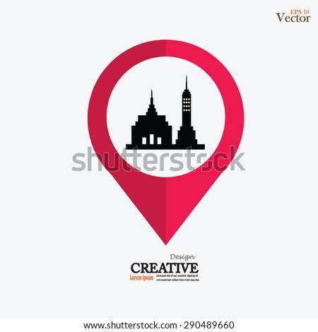 Building icon. Building. Vector illustration. - stock vector