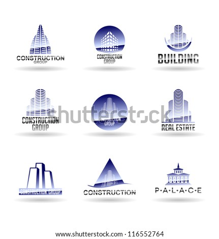 Building icon set. Construction and real estate. Vol 5. - stock vector