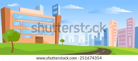 Building landscape - stock vector