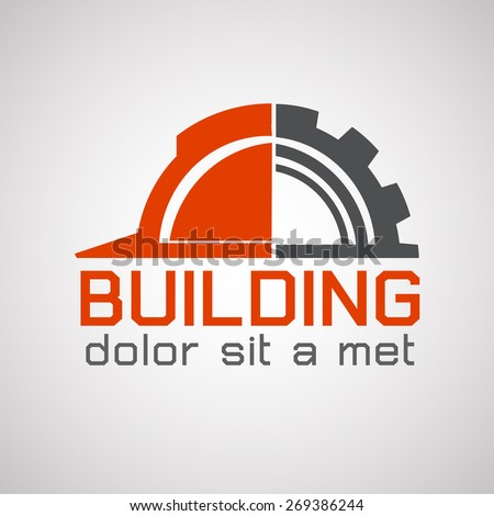 Building logo, construction working industry concept.- Vector illustration - stock vector