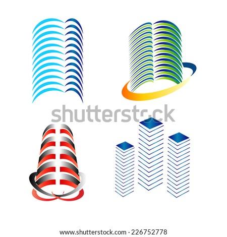 Building logo set  - stock vector