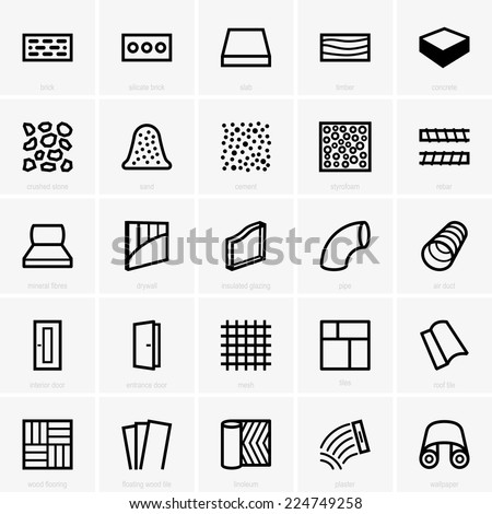 Building materials - stock vector