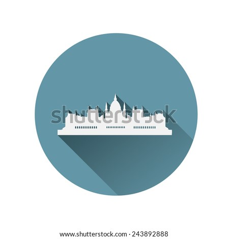 Building of The Parliament,Budapest,Hungary - stock vector