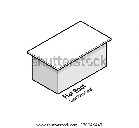 Building roof type: flat or low pitch roof.