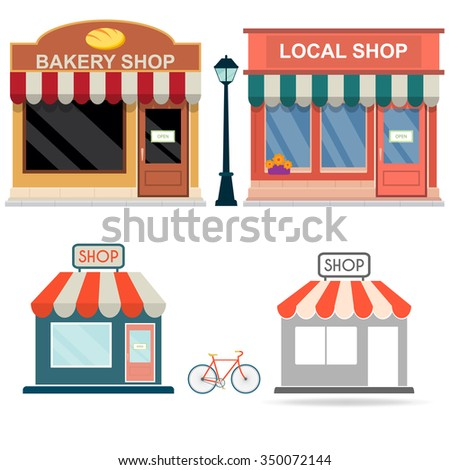 Building shop - stock vector