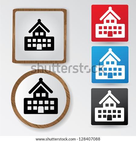 Building sign,vector - stock vector
