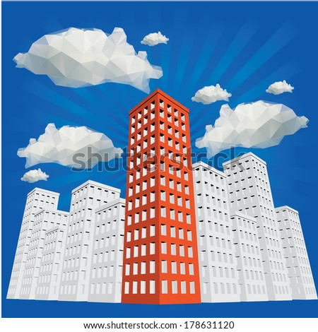 building vector - stock vector