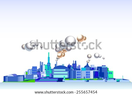 building vector background. downtown landscape. business, banner, advertising - stock vector