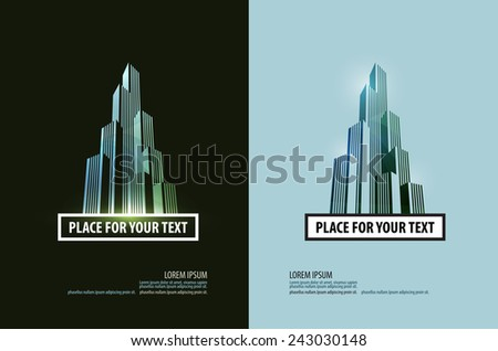 building vector logo design template. business or finances icon. - stock vector