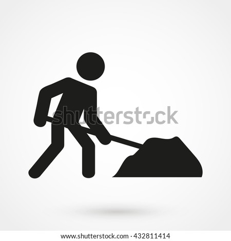 building works icon isolated on background. Modern flat pictogram, business, marketing, internet concept. Trendy Simple vector symbol for web site design or button to mobile app. Logo illustration - stock vector