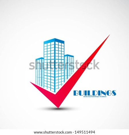 Buildings design vector - stock vector