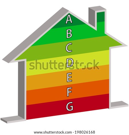 Buildings Energy Performance Scale - stock vector