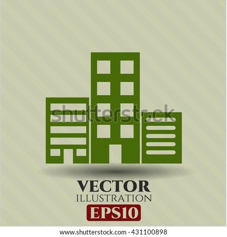 Buildings icon, Buildings icon vector, Buildings icon symbol, Buildings flat icon, Buildings icon eps, Buildings icon jpg, Buildings icon app, Buildings web icon, Buildings concept icon - stock vector