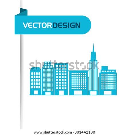 buildings icon design  - stock vector