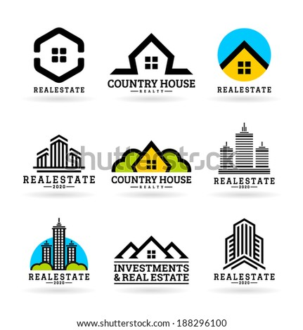 Buildings. Real estate (11) - stock vector