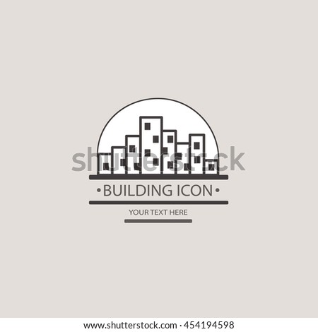 Buildings vector icon for your design. Construction of a city block. - stock vector