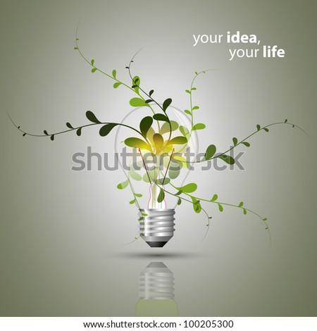 Bulb concept - Eco - stock vector