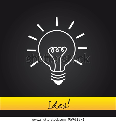 bulb electric over black background. vector illustration - stock vector