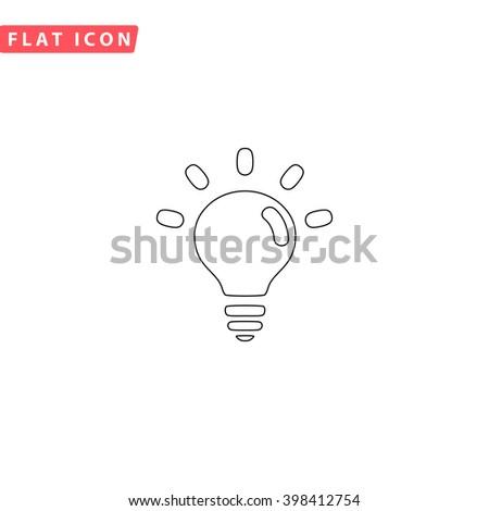 BULB Icon.  - stock vector
