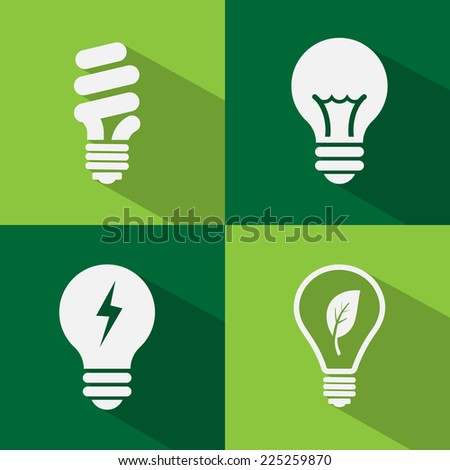 Bulb icon set vector. - stock vector