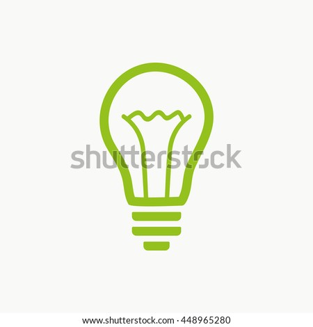 bulb icon stock vector illustration