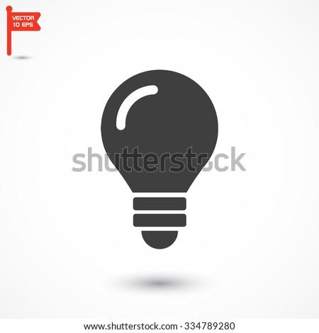 bulb icon vector - stock vector