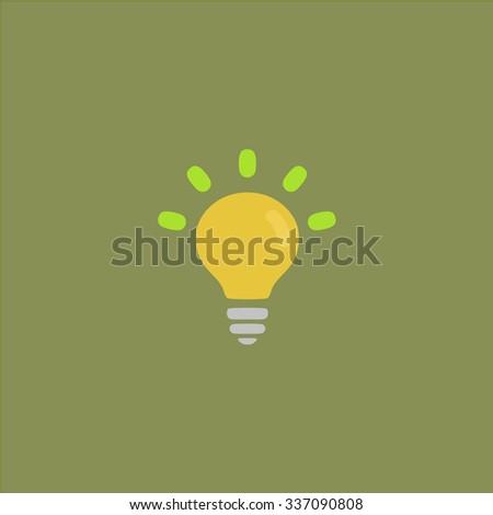 BULB. Icon Vector. Icon Picture. Icon Graphic. Icon Art. Icon JPG. Icon JPEG. Icon EPS. Icon AI. Icon FLAT. Icon SIMPLE - stock vector
