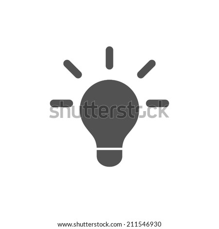 bulb icon,vector illustration - stock vector