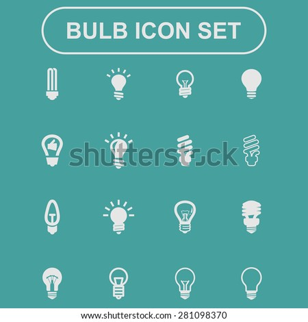 bulb icons - stock vector