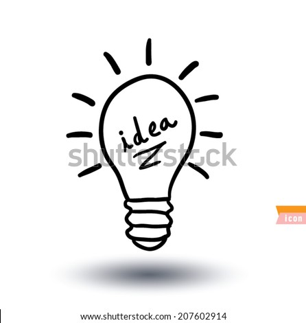 bulb idea icon, vector illustration - stock vector