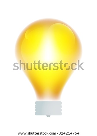 Bulb lamp transparent isolated. Glowing glass lamp with shine color. Lamp vector, lamp silhouette, lamp isolated, lamp vector bulb, lamp icon. Creative idea, concept, brainstorm. Lamp vector bulb icon - stock vector