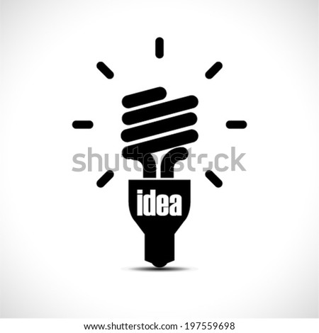 Bulb light idea vector illustration - stock vector