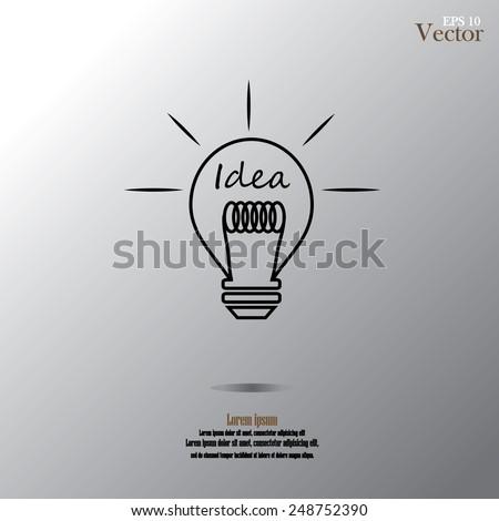 Bulb light idea vector illustration.idea lamp.idea lamp concept - stock vector