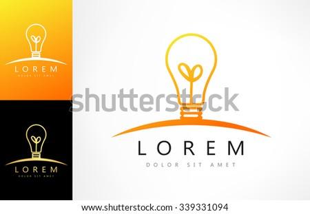 Bulb logo - stock vector