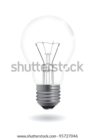 Bulb realistic illustration. Vector illustration. - stock vector