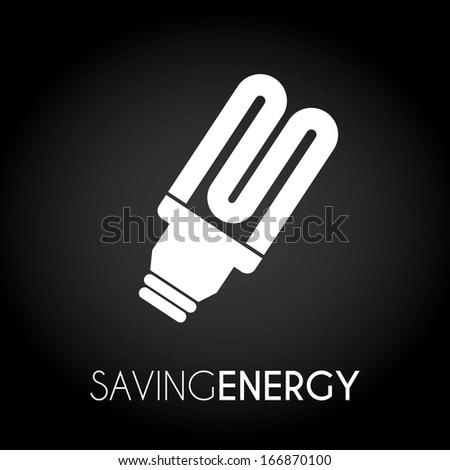 bulbs design over black background vector illustration - stock vector