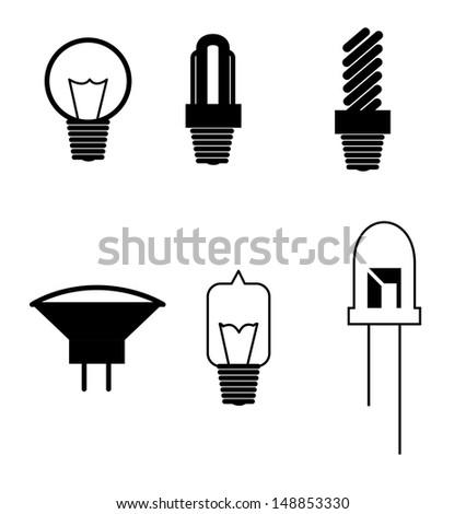 bulbs design over white background vector illustration  - stock vector