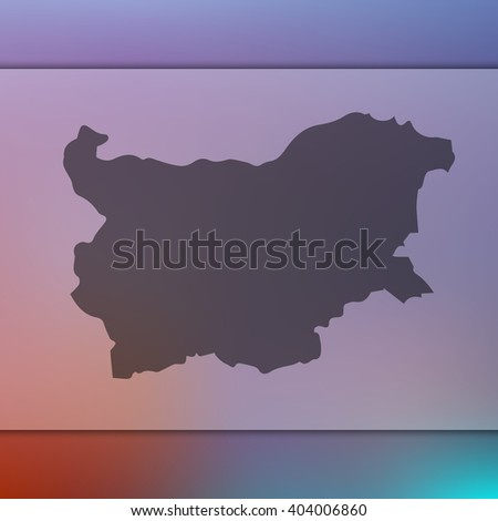 Bulgaria map on blurred background. Blurred background with silhouette of Bulgaria. Bulgaria. Bulgaria map. Blurred background. Silhouette of Bulgaria. Bulgaria vector map.  Blurred Bulgaria map. - stock vector